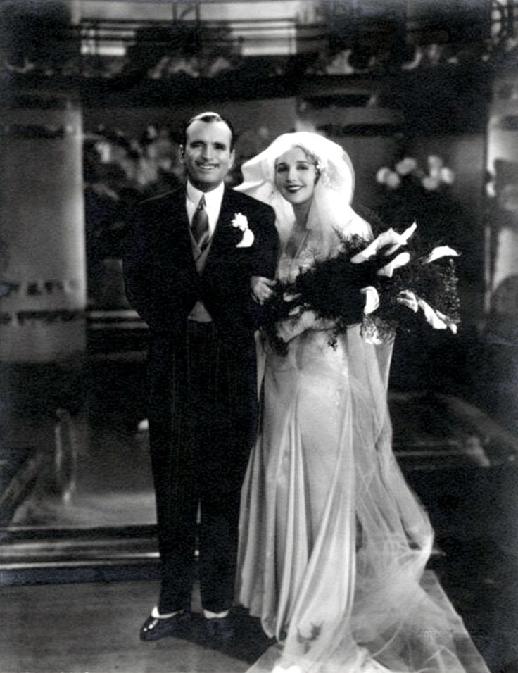 """Douglas Fairbanks Sr. and Mary Pickford ~ The couple married in 1920. The public went wild over the idea of """"Everybody's Hero"""" marrying """"America's Sweetheart."""" They were greeted by large crowds in London & Paris during their European honeymoon, becoming Hollywood's first celebrity couple. Fairbanks & Pickford were regarded as """"Hollywood Royalty,"""" famous for entertaining at their Beverly Hills estate, Pickfair."""