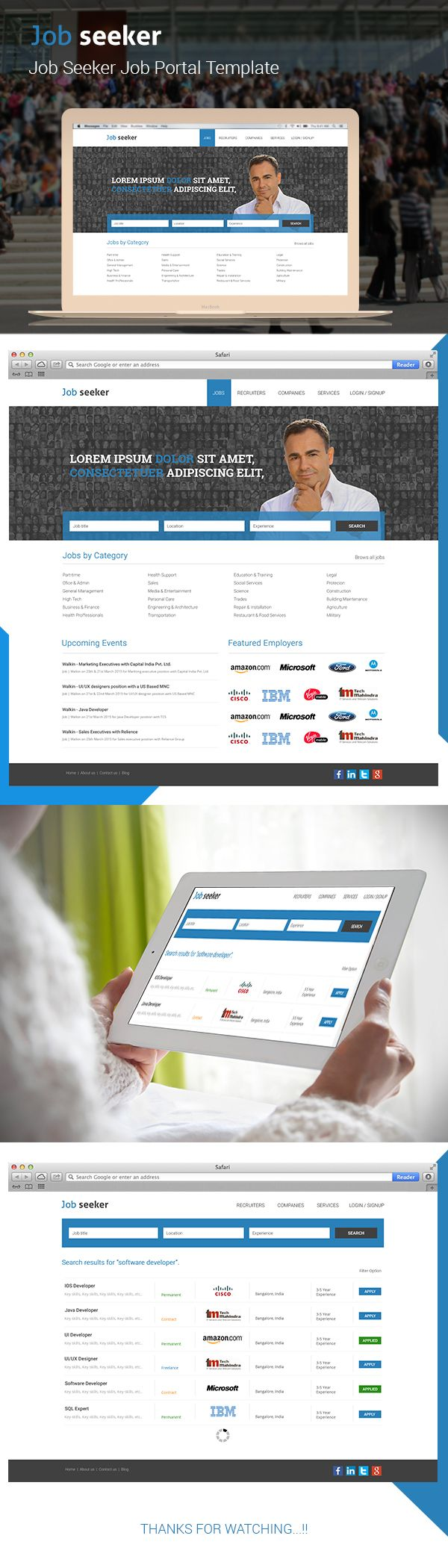 Job seeker - Job Portal Template on Behance