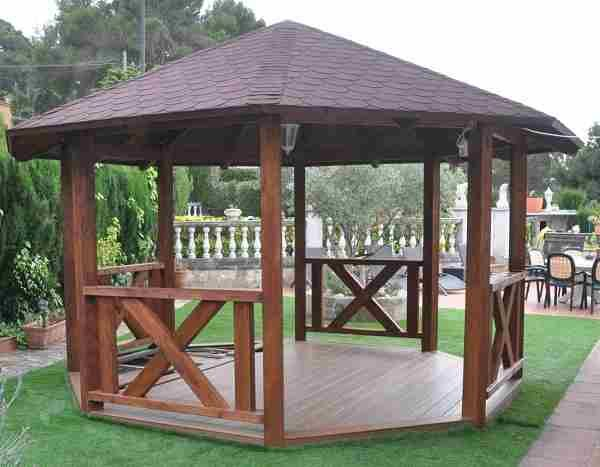32 best ideas for the house images on pinterest tiki - Gazebos de madera ...