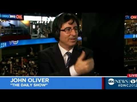 ▶ 'Daily Show's' John Oliver Yells at Steny Hoyer at the Democratic National Convention Comedy - YouTube