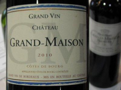 HIPPOVINO: Quelques vins en hommage à mon père - France - vin rouge - Bordeaux - Côtes de Bourg - Château Grand Maison Grand Vin - Importation Privée