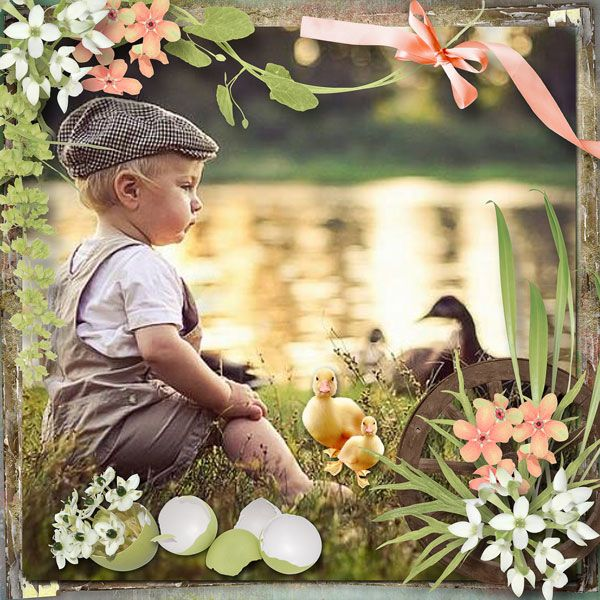 """""""Happy Easter"""" - Add On by DitaB Designs   http://www.pickleberrypop.com/shop/product.php?productid=49800&page=1  save 67%  photo Iwona Podlasiňska use with permission"""