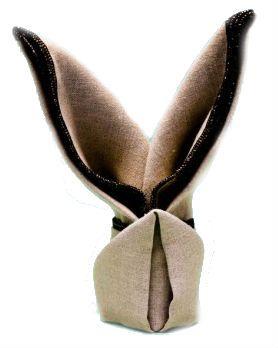 Come piegare i tovaglioli a forma di coniglio