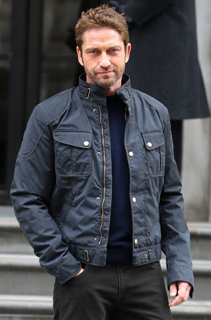 Gerard Butler wearing the Matchless Mallory Park Blouson ...