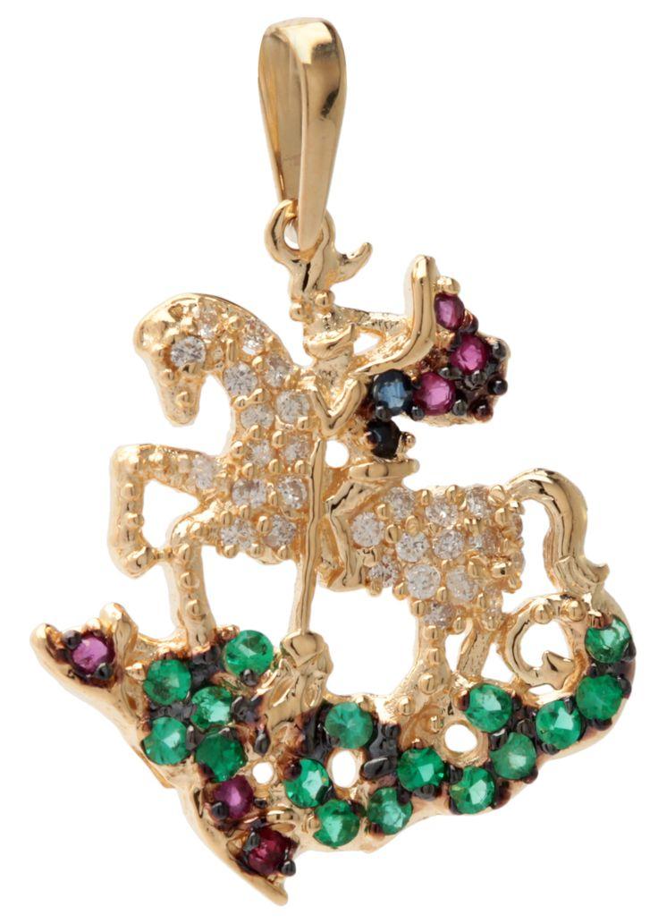 Pingente Tani Jewels em ouro com diamantes, esmeraldas, rubis e safiras ♥!