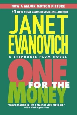 One for the Money by Janet Evanovich. This hilarious mystery novel about a New Jersey girl taking an ill-advised job as a bounty hunter is the first in a long series, and it's one of Caroline's favorites! Pick one up from either library!