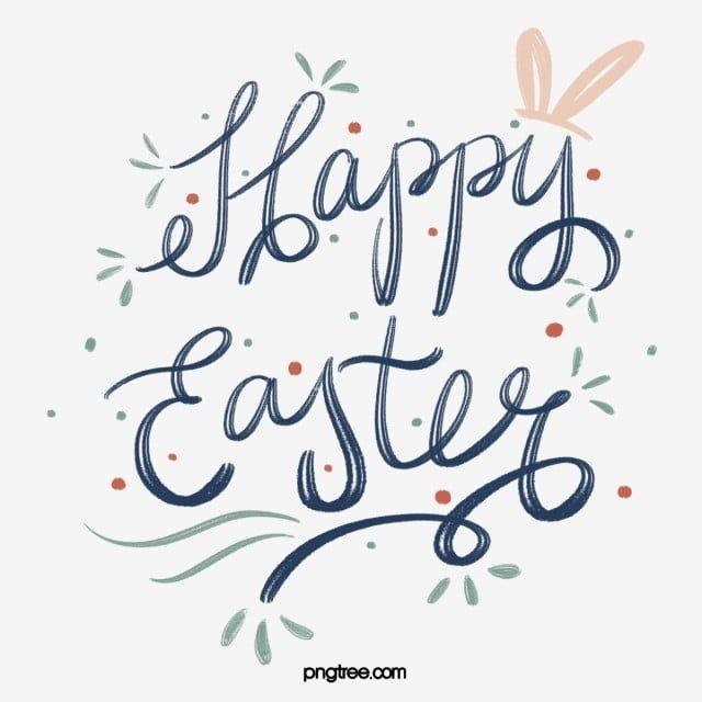 Happy Easter Magnificent Clipart Png Transparent Image Instant Download Upcrafts Design In 2021 Easter Fonts Clip Art Easter Graphics