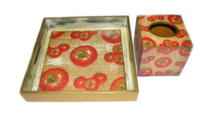 serving tray tissue box by Lne's Artwork