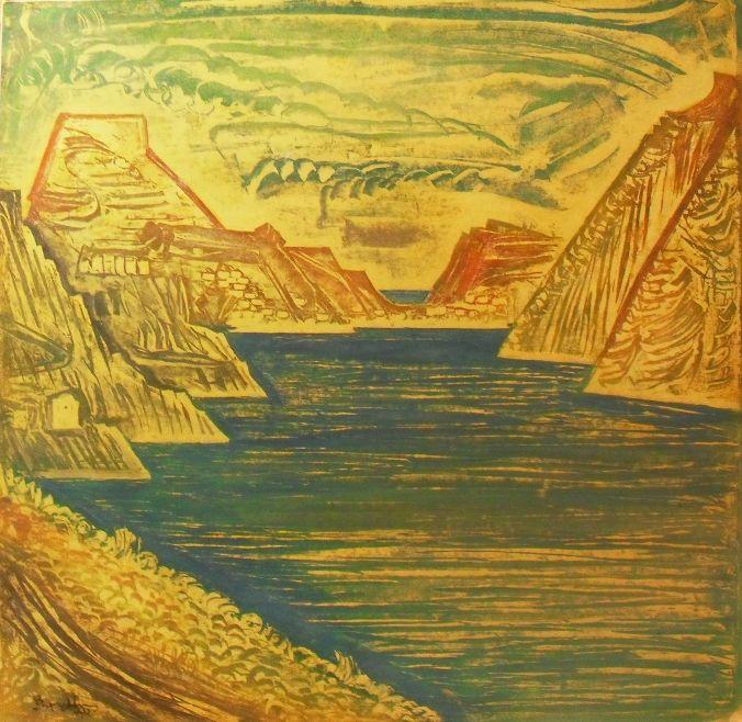 Valias Semertzidis Corinto Olio e tempera su Carta cm 98x100