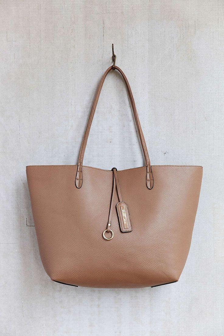 Street Level Reversible Thin Strap Tote Bag | Pretty ...
