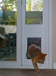 The Security Boss Patio Pet Door Can Be Mounted On The Stationary Side Of  The Patio