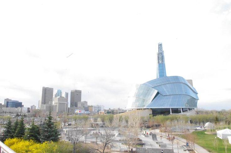 #GR8DAY in #Winnipeg @TheForks @CMHR_News #downtown @Wpg_Goldeyes Let it Begin!