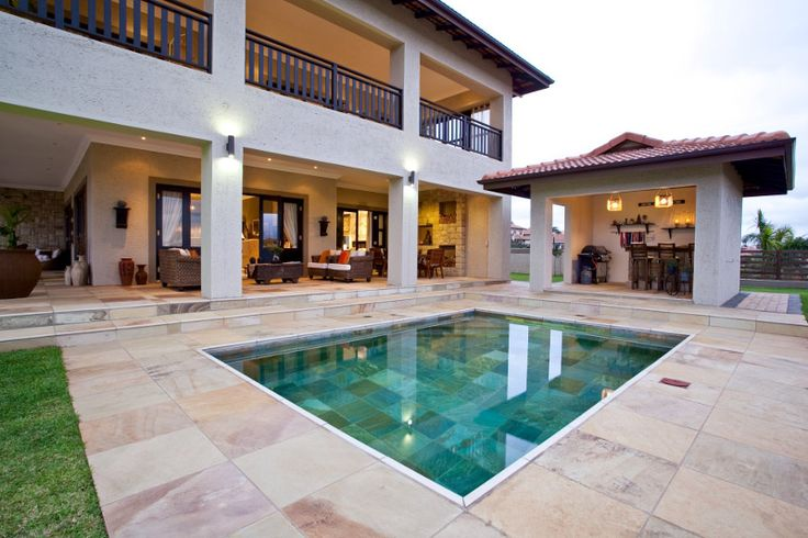 Stunning #NaturalStone #pool tiles to liven up a pool area. #UnionTiles