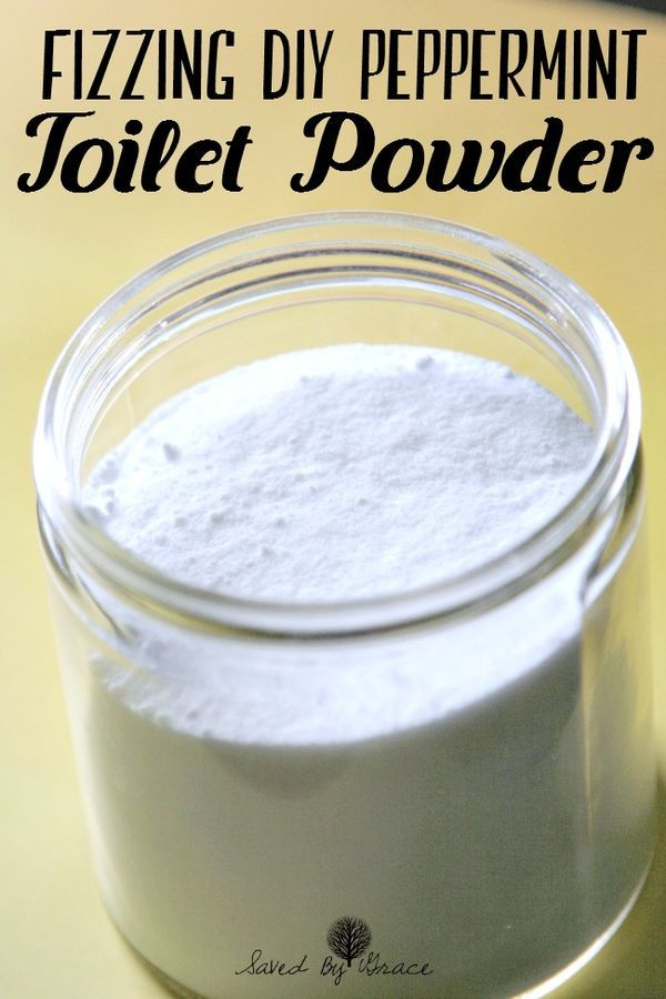 DIY Fizzing Peppermint Toilet Powder recipe- This easy to make DIY Fizzing Peppermint Toilet Powder will get your toilet sparkling clean and take just 5 minutes to make!