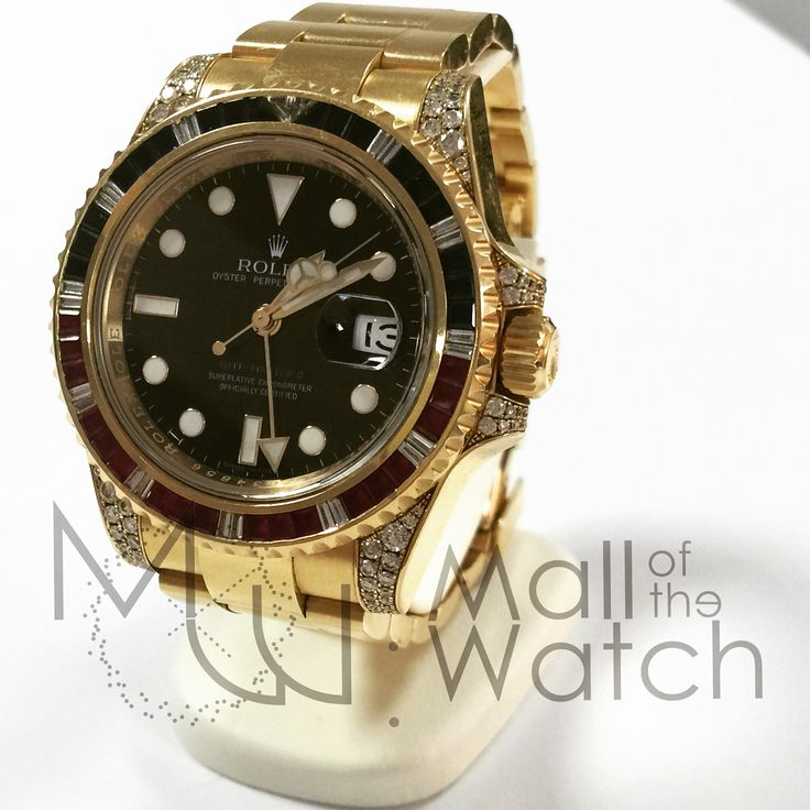 #Rolex 116758 #SARU #gmtmaster2 #yellowgold #rubies #diamonds #sapphires #luxurywatch #menswatch #montres #montresdeluxe #haute #horlogerie Year 2008 with box and original warranty papers