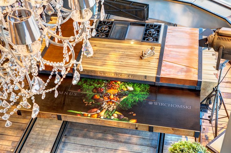 Kuchnia - ekspozycja Merliniego kitchen amazing beautiful unique woodwork wood designer masterchef