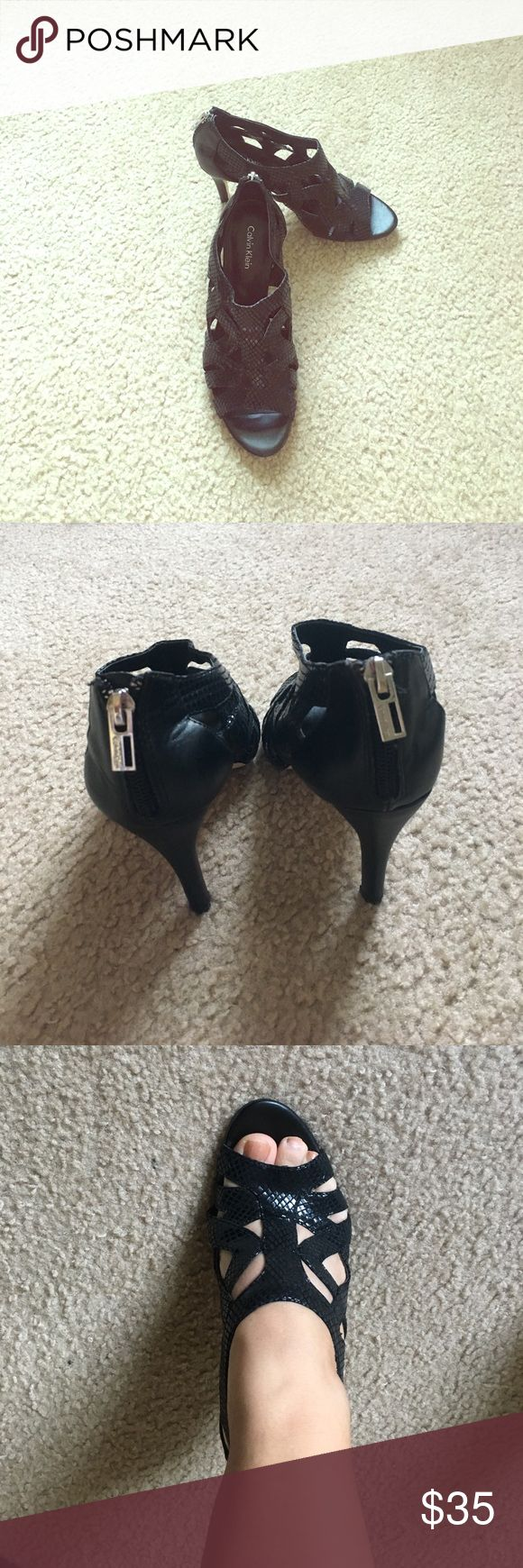 Calvin Klein black shoes Like new. Any questions let me know Calvin Klein Shoes Heels