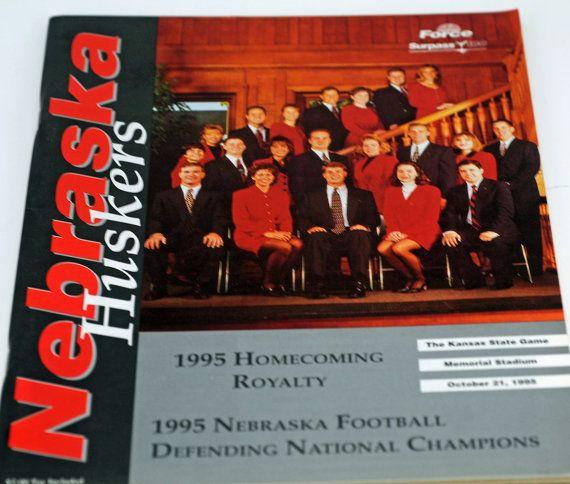 Super Collectible!  Nebraska Football Game Program 1995 Nebraska v Kansas State