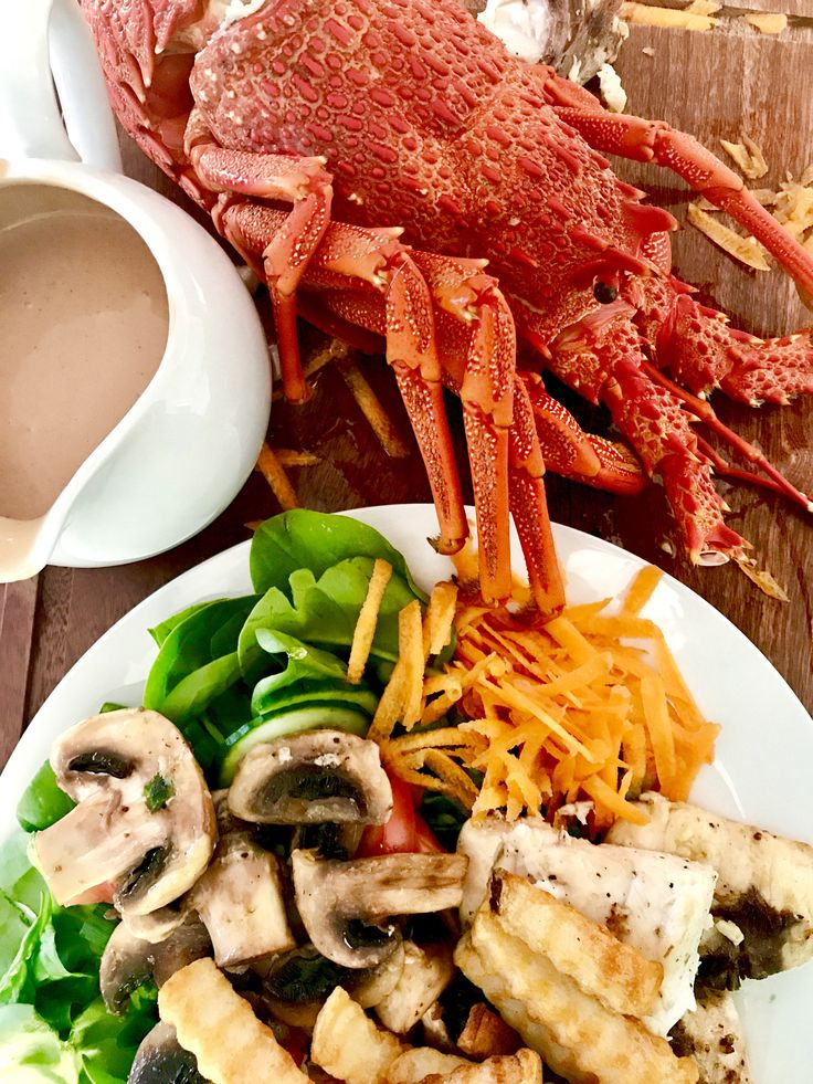What are you having for tea? LOVE this time of year! Freshly cooked Crayfish (Southern Rock Lobster) and Shark for tea, with our secret seafood sauce!West Coast caught. Delish!   #tassie4kids #tassiekids #tassiestyle #crayfish #tasmanianseafood #fishandchips