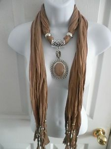 DIY Great idea for Jewelry Scarf Pendant Necklace