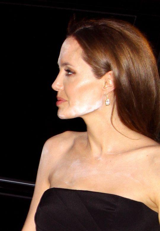 MAJOR Faux-pas - Let's Talk About Angelina Jolie's Powder Mishap for a Second