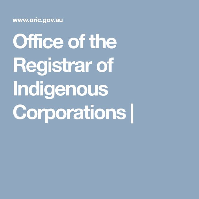 Office of the Registrar of Indigenous Corporations |