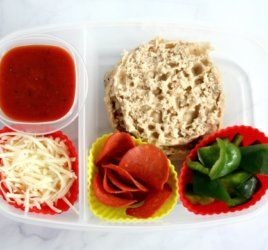 """This healthier """"lunchable"""" pizza lunchbox is just as easy and fun as the classic pre-made lunch but with better nutrition thanks to some simple and fresh swaps."""
