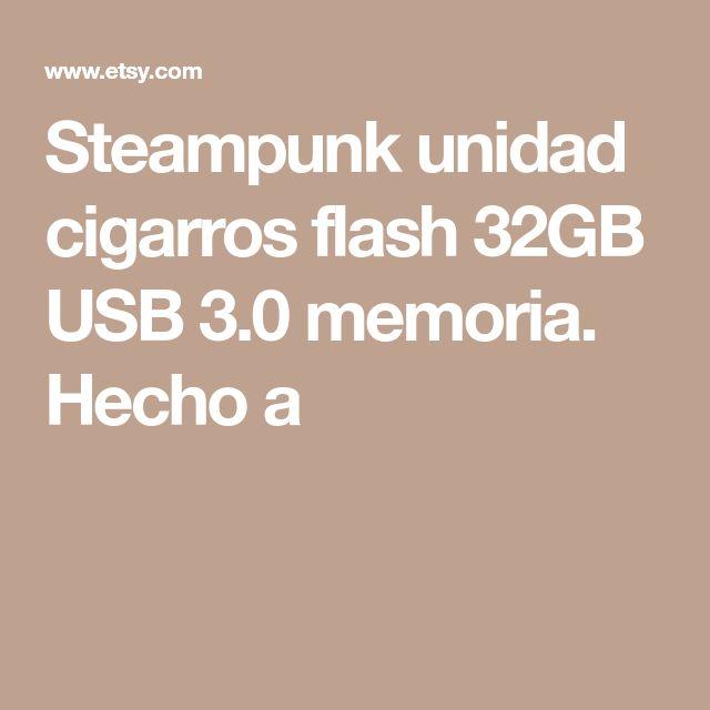 Steampunk unidad cigarros flash 32GB USB 3.0 memoria. Hecho a