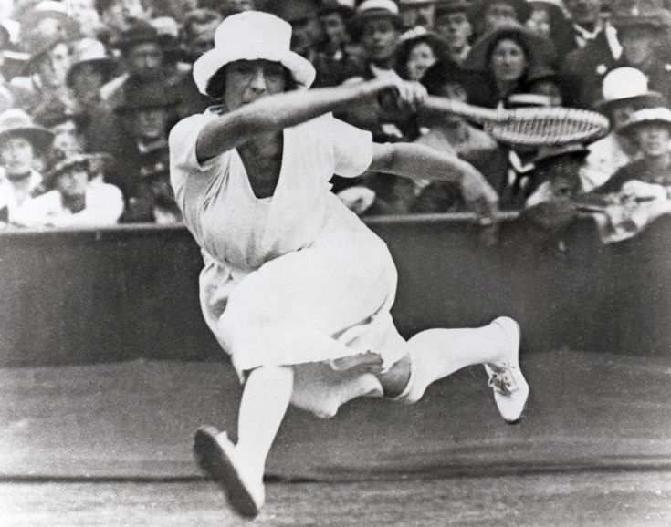 Suzzane Lenglen was a tennis player in the 1920s olympics.