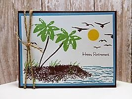 Peanuts and Peppers Papercrafting: Try It Thursday - Stampin' Up! Avant Garden Happy Retirement Card