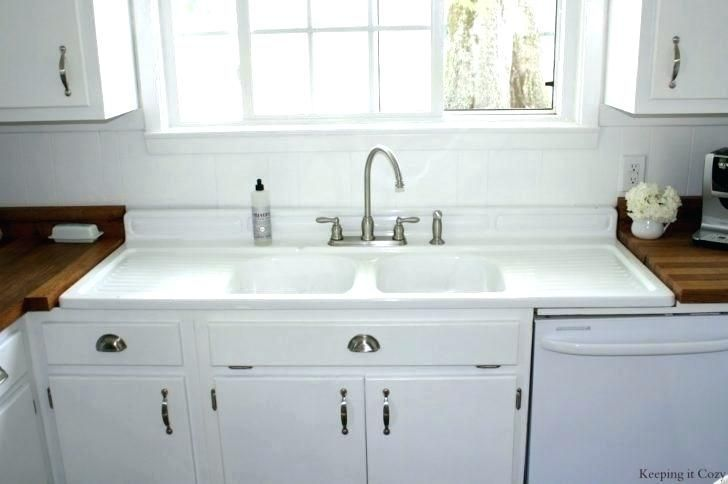 Farmhouse Sink With Drainboard And Backsplash The Search Vintage