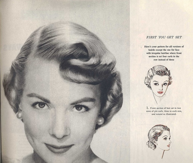 1950s hair setting instructions by thenoirkitten, via Flickr