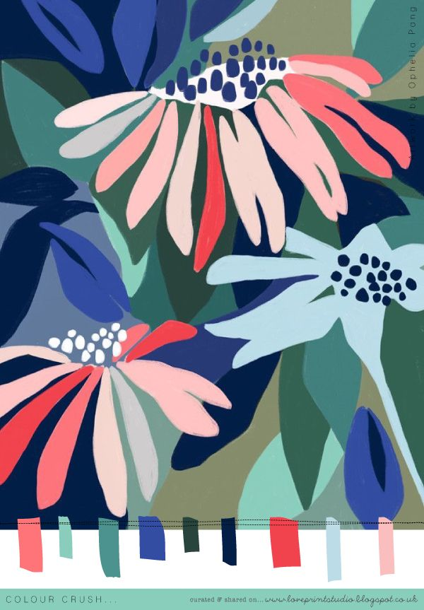 Todays mini colour crush features the wonderful work of Ophelia Pang . x x x
