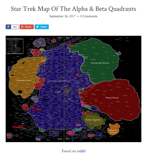 285 best scifi images on pinterest airplanes aliens movie and star trek map of the alpha beta quadrants brilliantmaps scifi gumiabroncs Choice Image
