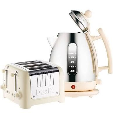 Dualit cream kettle and toaster.