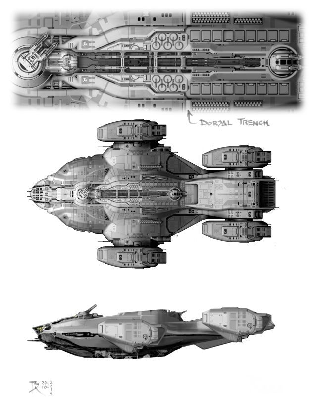 Exclusive Dark Matter Concept Art Is Loaded With Glorious Spaceships!