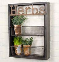 Herb Garden Wall Shelf