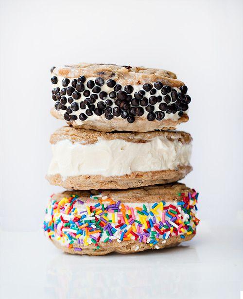 Sprinkles & ice cream sandwiches.