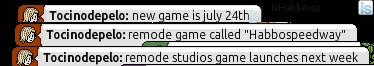 Paul LaFontaine leaks name of game and release date in Habbo Total Unmute Party.
