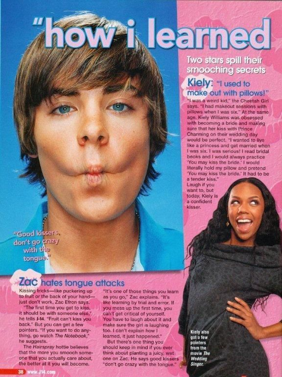ZAC EFRON - HSM - KIELY WILLIAMS - PINUP - CLIPPING  | eBay