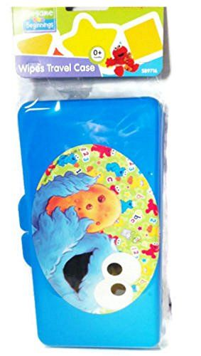 Diaper Wipes Travel Case Sesame Street (Blue Cookie Monster)  Sesame Street Beginnings wipes travel case BPA Phthalate Free (Wipes Not Included)  Adorable BABY WIPE TRAVEL CASE from SESAME BEGINNINGS Age 0 months and up  1 Pc Baby Diaper Wipes Empty Case Box Refillable Wet Wipes Container Travel Bag Stroller  Perfect to take with you to the park, party, traveling and its reusable and strong and maintain wipes wet  Handy: Keeps wipes on hand for quick access on the go.