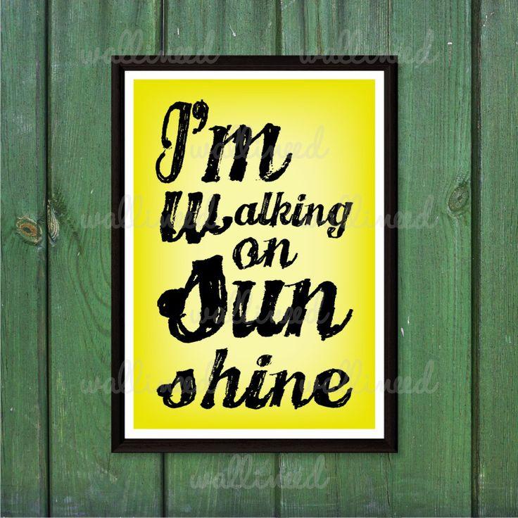 I'm Walking On Sunshine Canvas Print