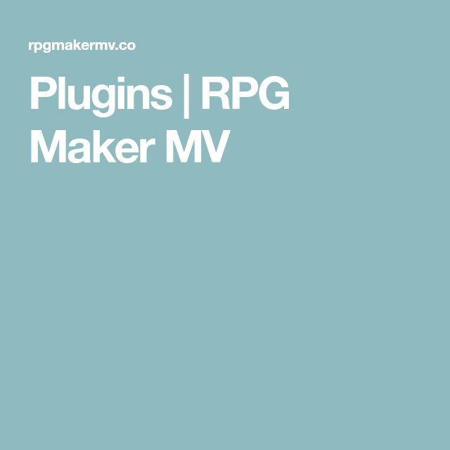 Plugins | RPG Maker MV