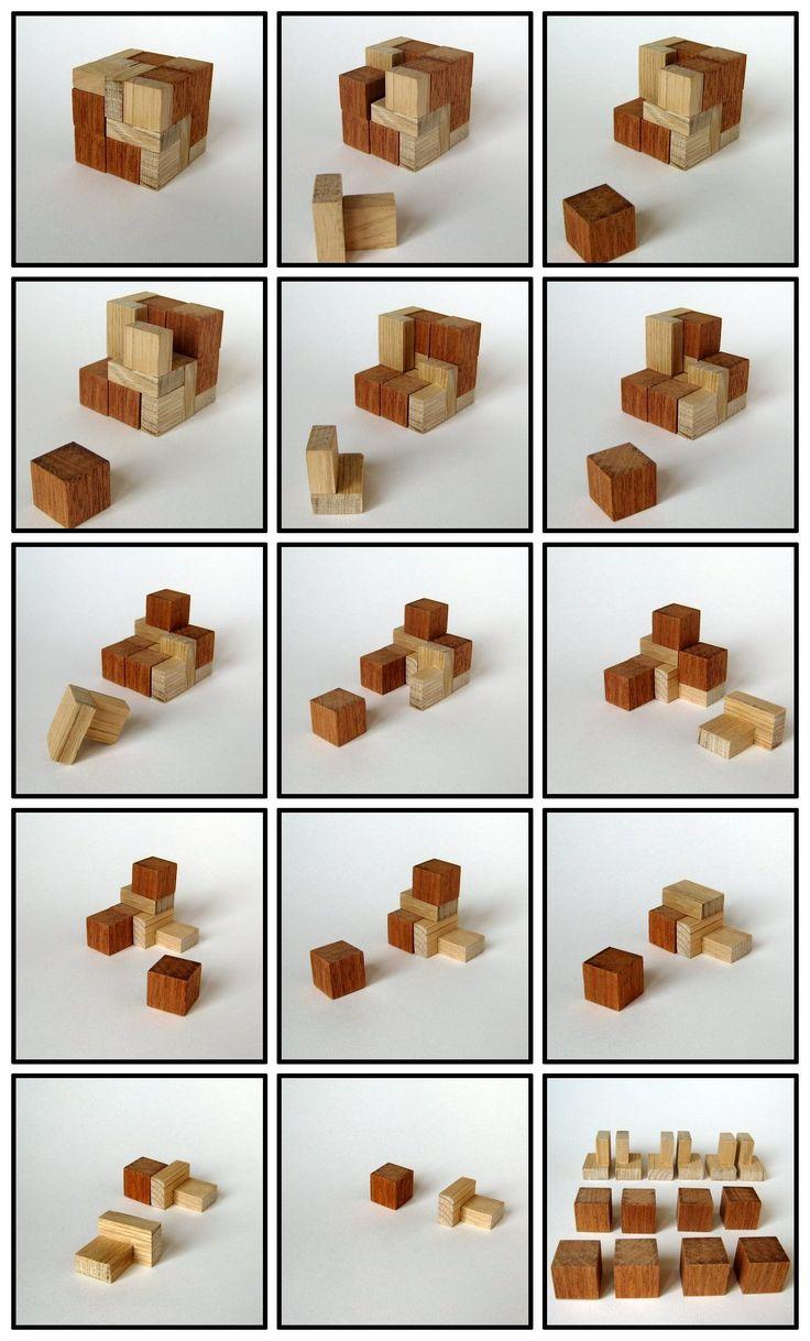 52 best wooden puzzle solutions images on pinterest. Black Bedroom Furniture Sets. Home Design Ideas