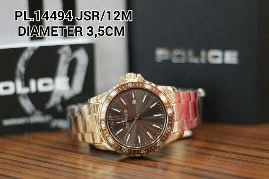 POLICE watch  Article : PL 14494 JSR - 12M Price : IDR 1.900.000 Diameter : 3,5 cm  Material : stainless full Rosegold Garansi mesin 1 tahun international