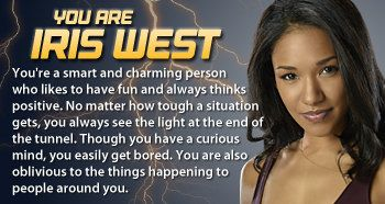 """Which """"The Flash"""" character are you? I got Iris West!"""