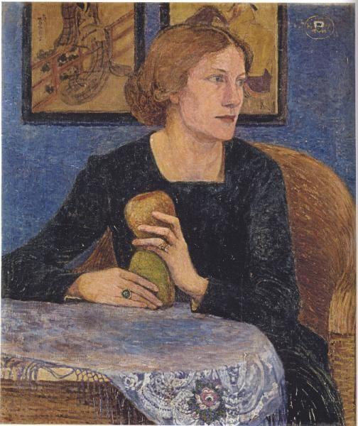 "Heinrich Vogeler, 1872–1942. ""Portait of Martha Vogeler"", 1910. Oil on canvas, 71 × 61 cm."
