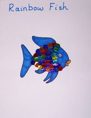 17 best images about ocean on pinterest oil pastels for Rainbow fish craft