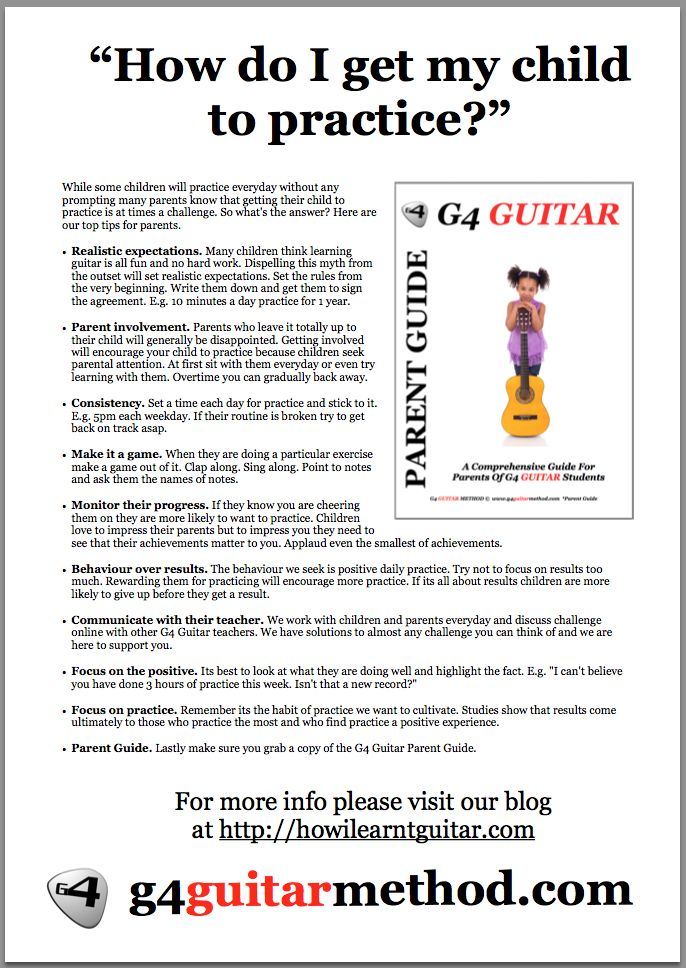"""""""How do I get my child to practice guitar?"""""""