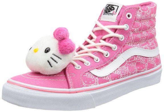 Vans Women's Sk8-Hi Slim (Hello Kitty) Casual Shoes: Shoes